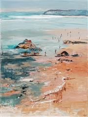 Sale 8781A - Lot 5021 - Cheryl Cusick - Beach Evening 121 x 91cm