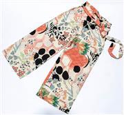 Sale 8891F - Lot 8 - A pair of Ellis & Dewey Black Label printed palazzo pants with waist cummerbund/obi, size small