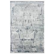 Sale 8912C - Lot 27 - Turkish Woven Mystique Collection 01 Carpet,, Silver/Navy, 200x300cm, Viscose/Acrylic