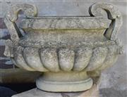 Sale 8950G - Lot 77 - 19th century French hand carved stone jardinière 46cm Wide 35cm Height