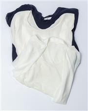 Sale 9003F - Lot 74 - Two Carla Zampatti short sleeve blouses together with a MarcCain Top, all size M