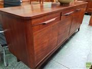 Sale 8493 - Lot 1088 - Retro 4 Drawer 4 Door Sideboard