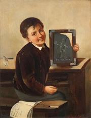 Sale 8683 - Lot 573 - Thomas Webster (1800 - 1886) - Young Scholar 27 x 20cm