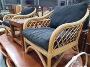 Sale 8724 - Lot 1065 - Pair of Cane Armchairs