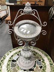 Sale 8805 - Lot 1064 - Ornate Mirror on Painted Metal Stand