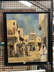 Sale 8856 - Lot 2024 - H. Molenaar Moroccan Street Sceneoil on board, 62.4 x 54.5cm, signed