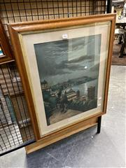 Sale 8891 - Lot 2067 - An early C20th chromolithograph depicting Scarborough, antique frame size 59 x 56cm