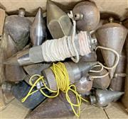 Sale 8951P - Lot 344 - Large Collection of Steel Plumb Bobs (corroded)
