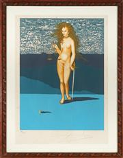 Sale 9032A - Lot 5050 - Salvador Dali (1904 - 1989) - Goddess of Justice 61 x 45.5 cm (frame: 86 x 67 x 2 cm)