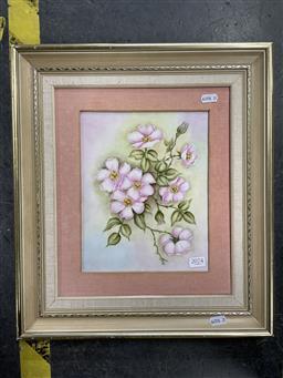 Sale 9127 - Lot 2074 - Framed Plaque of Wild Roses