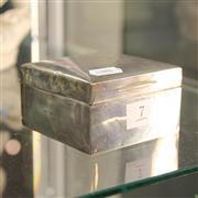 Sale 8306 - Lot 7 - English Hallmarked Sterling Silver Cigar Box