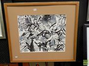 Sale 8407T - Lot 2009 - Tibor Wiener (1907 - 1969) - Untitled (Anarchy) 40 x 49.5cm