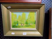 Sale 8437 - Lot 2025 - Marie Lawson (XX) - By the Willows 14 x 20cm