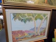 Sale 8461A - Lot 2034 - Hilary Wirri (XX) - Central Australian Landscape 33.5 x 47cm