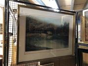 Sale 8833 - Lot 2054 - Kenneth Jack - Decorative Print Echuca Port Signed & Dated Lower Left (76 x 98cm Frame)