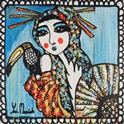 Sale 8853A - Lot 5005 - Yosi Messiah (1964 - ) - Blossom Blue 102 x 102cm