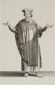 Sale 8870 - Lot 2048 - Antoine Augustin Calmet (1672 - 1757) - Melchisedech en Habit Royal, 1730 30 x 19.5cm