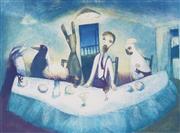 Sale 8892 - Lot 522 - Garry Shead (1942 - ) - The Supper 65.5 x 89 cm