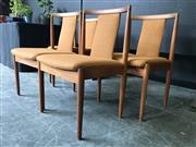 Sale 9022 - Lot 1063 - Set of 4 Vintage Parker Dining Chairs (h:81 x w:49cm)