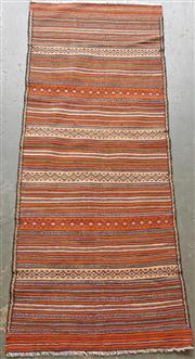 Sale 9071 - Lot 1083 - Persian Hand Knotted Woollen Sumak Runner (180 x 75cm)
