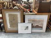 Sale 9072 - Lot 2049 - Beatrice Roe (3 works), Re-Emergence of Woolloomooloo, Tree Study & Three Sheep to the Acre, mixed media on paper, various sizes,...