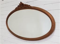Sale 9154 - Lot 1063 - Oval gilt framed mirror (h:65 x w:140cm)