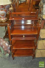 Sale 8331 - Lot 1081 - Tiered Mahogany Single Drawer Mirrored Back Hall Stand