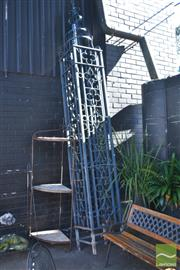 Sale 8390 - Lot 1379 - Heavy Wrought Iron Post (354 x 48.5cm)