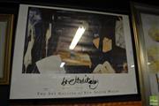 Sale 8464 - Lot 2086 - Framed Brett Whitely Art Gallery NSW Exhibition Poster