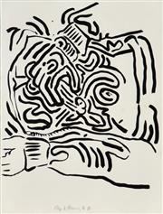 Sale 8519 - Lot 534 - Keith Haring (1958 - 1990) - Bad Boys, 1986 (II) 65 x 50cm