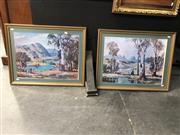 Sale 8816 - Lot 2005 - Douglas Pratt: Country Scenes, pair of framed decorative prints, frame size 56 x 71cm (each)