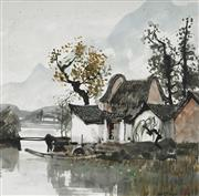 Sale 8847A - Lot 5038 - Yao Zhonghua (1939 - ) - Home Town, 1987 58 x 59cm