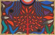 Sale 8870A - Lot 522 - John Coburn (1925 - 2006) - Tree of Life I 32 x 50 cm