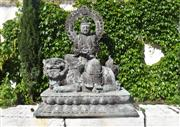 Sale 9087H - Lot 97 - A superb pair of Bronze Buddha statues with fine aged patina. 1.52m width, 88cm depth, 1.82m height