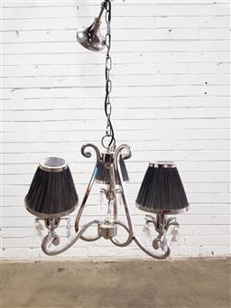 Sale 9129 - Lot 1077 - Chrome pendant light fitting (h:43cm)
