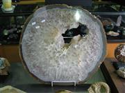 Sale 8331A - Lot 536 - Large Quartz Agate Slice on stand