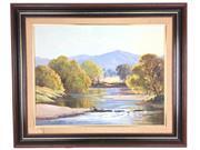 Sale 8607R - Lot 47 - Leonard Long - Oil on Board (34 x 45cm)