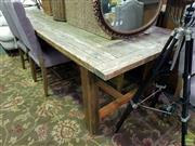 Sale 8601 - Lot 1380 - Large Rustic Table (H: 77 L: 240 W: 100cm)