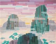 Sale 8642A - Lot 5033 - Harold Abbott (1906 - 1986) - Chinese Landscape, 1977 57 x 73cm