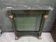 Sale 8657 - Lot 1009 - Marble Top Consol table