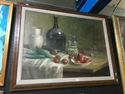 Sale 8659 - Lot 2042 - E Federight, Still Life, oil on canvas, 71.5 x 92cm (frame size), signed lower right