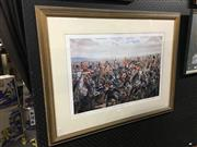 Sale 8750 - Lot 2064 - Mark Churns - Charge of the Union Brigade limited edition print, signed lower right