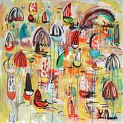 Sale 8853A - Lot 5033 - Yosi Messiah (1964 - ) - Golden Harbour 102 x 102cm
