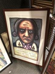 Sale 8861 - Lot 2023 - Reg Mombasa Jim Cook print, 72 x 52cm (frame)