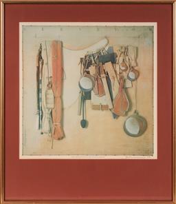 Sale 9125A - Lot 5025 - Tim Storrier (1949 - ) - Campsite I, frame: 98 x 84 cm