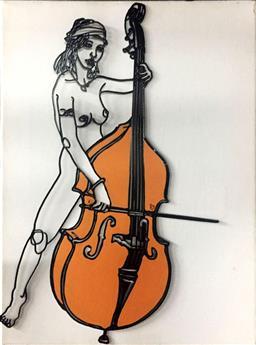 Sale 9139 - Lot 2035 - Frank Malerba - Nude Cellist, 2009 40.5 x 30.5 cm