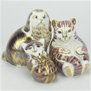 Sale 8342 - Lot 95 - Royal Crown Derby Imari Animal Paperweights