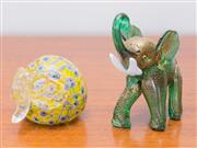 Sale 8369A - Lot 28 - Two aventurine elephants