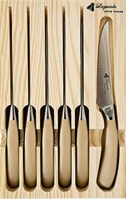 Sale 8372A - Lot 46 - Laguiole by Louis Thiers Mondial 6-Piece Steak Knives in Rose Gold Finish RRP $180