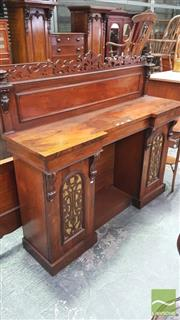 Sale 8375 - Lot 1030 - Mid Victorian Rosewood Credenza (Key in Office)